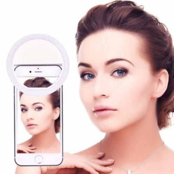 Светодиодное кольцо для селфи вспышка Selfie Ring Light 3 режима, белый