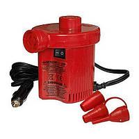 Электрический насос компрессор от прикуривателяАС-401 Турбинка 120W,для надувных лодок и матрасов