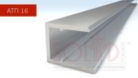 Алюмінієвий торцевий профіль АПТ - 16 мм ТМ SOLIDPROF