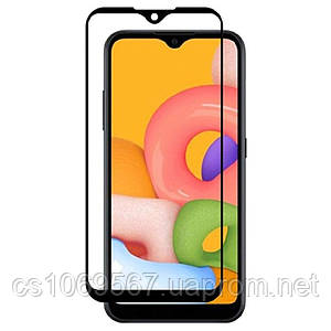 Защитное стекло 10D (full glue) (без упаковки) для Samsung Galaxy A01