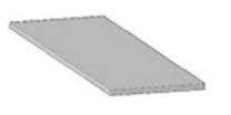 Алюмінієвий профіль притискна планка АППП 42 мм / Алюминиевый профиль прижимная планка АППП 42 мм.