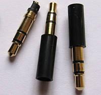 Аудио Штекер 3.5mm 3 pin Стерео на Наушники Медь