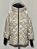 Блестящая женская куртка весна осень