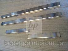 Защитные хром накладки на пороги volkswagen golf V plus (фольксваген гольф 5 плюс) 2004г-2008г