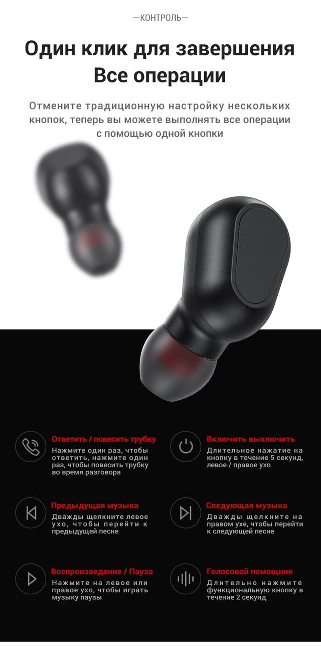 Беспроводные TWS наушники Topk L22 Bluetooth 5.0 с LED экраном Черные