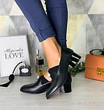 Туфли женские кожаные элегантные и удобные украшены жемчужиной, фото 3