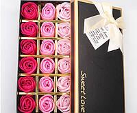 18 Роз из мыла в коробке-Подарок на 14 февраля