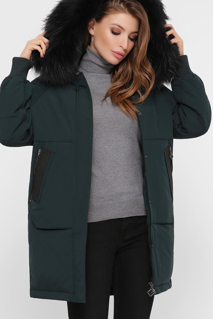 Пальто женское зимнее с меховой отделкой М-78