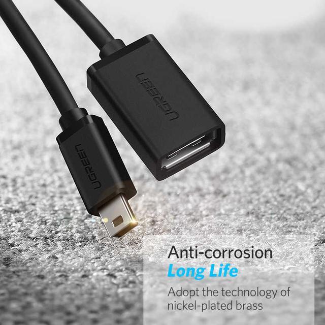 Mini USB OTG кабель-адаптер Ugreen US249 10383 Черный, 12см