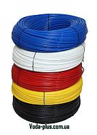 """Эластичный полиэтиленовый шланг 1/4"""", бухта 300 м.п. на пластиковой катушке (KP-PE14(x)-300)"""