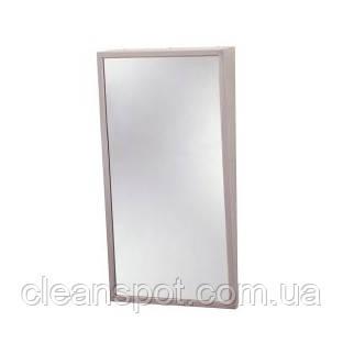Зеркало с наклоном и  стальной полированной окантовкой. 293-1630