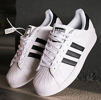 Кроссовки Adidas Superstar White Black 1в1 Как Оригинал! ТОП (ААА+)