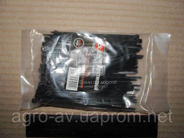 Хомут пластиковый (DK22-2.5х100WT) 2.5х100мм. черный 100шт./уп. <ДК>