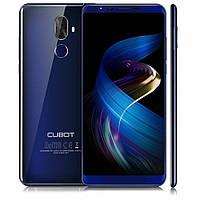 Смартфон Cubot X18 Plus blue оригинал безрамочный экран 5,99д двойная камера 20 и 2Мп Фронтальная камера 13 Мп