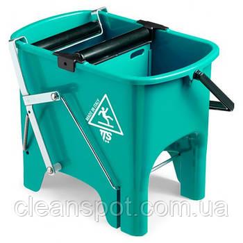 Ведро для уборки с отжимом SQUIZZY  зеленое, 15л. 0V006410
