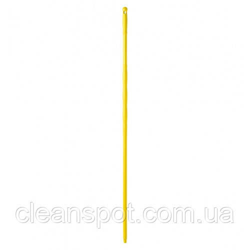 Рукоятка  полипропиленовая желтая, с резьбой, 145 см*23 мм. 00001081G