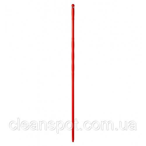 Рукоятка  полипропиленовая красная, с резьбой, 145 см*23 мм. 00001081R