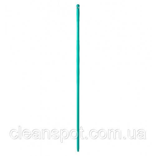 Рукоятка  полипропиленовая зеленая, с резьбой, 145 см*23 мм. 00001081V