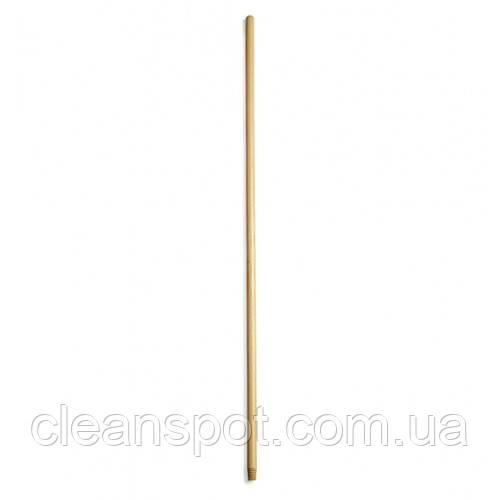 Рукоятка  деревянная  с резьбой, 130 см*22 мм. 2149065