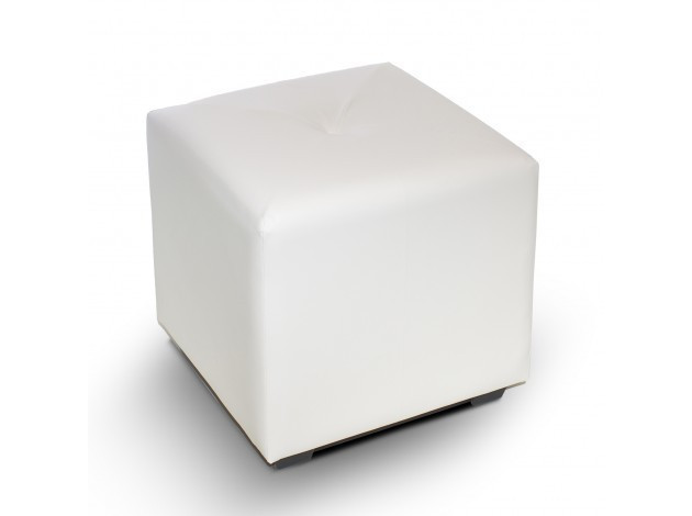 Пуф квадратный Чико Белый матовый 40х40х42см.пуфик,пуфики,пуф кожзам,пуф экокожа,банкетка,банкетки,п