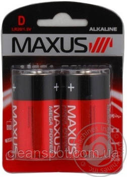 Батарейка MAXUS  D/R20 2 шт