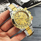 Rolex Daytona Quartz Date Silver-Gold-Gold, фото 5