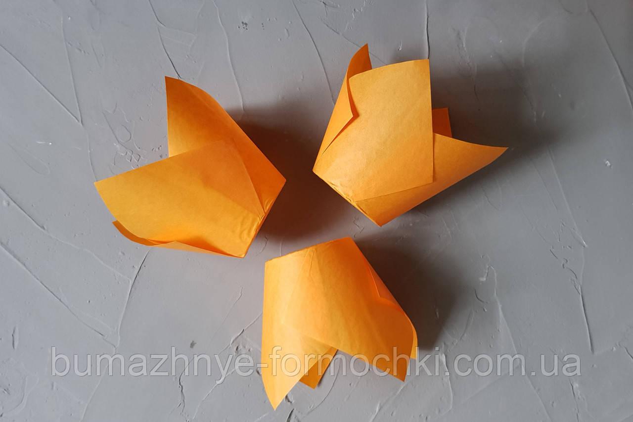 """Бумажная форма для кексов """"Тюльпан"""", оранжевый"""