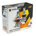Лампа светодиодная для фар CYCLONE LED H7 5000K 5100LM CR TYPE 27S 2 шт комплект, фото 3