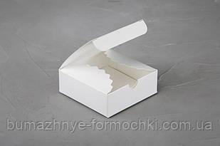 Коробочка для 4-х конфет ручной работы, белая, 83*83*30