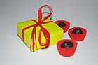 Коробочка для 4-х конфет ручной работы, салатовая, 83*83*30, фото 2