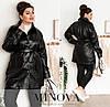 Куртка жіноча з еко-шкіри (4 кольори) ОМ/-818 - Чорний