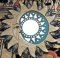 Зеркало в рамке Солнце и Луна (с креплением)