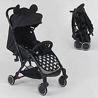 Легкая прогулочная детская коляска JOY W 7710, цвет черный