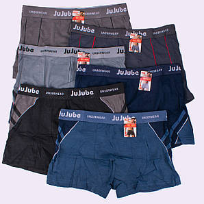 Боксеры мужские Jujube K324. K322. K330-3 XL 42-44. В упаковке 6 трусов