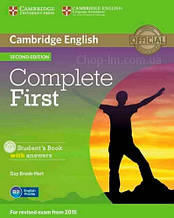 Complete First Second Edition Student's Book with answers and CD-ROM / Учебник
