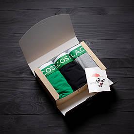 Подарочный набор мужской Lacoste 3 шт. серый, чёрный, зелёный
