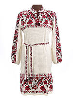 Платье вязаное Птички с кокеткой | Плаття вязане Пташки з кокеткою