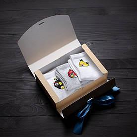 Подарочный набор мужской носки 3 шт. Angry birds