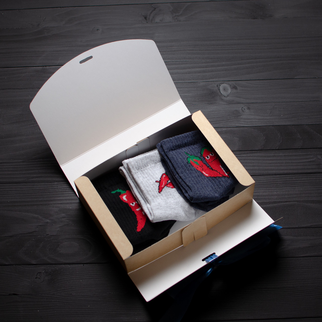 Подарочный набор мужской носки 3 шт. ПЕРЦЫ