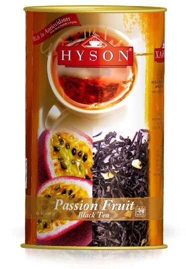 Хайсон чай чорний з шматочками маракуї Фрукт пристрасті 100 г