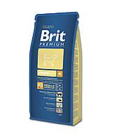 Корм для собак Brit Premium Junior M 15 кг, брит для щенков и юниоров средних пород собак