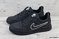 Мужские кожаные кеды Nike (Реплика) (Код: крипс чер/фл  ) ►Размеры [40,41,42,43,44,45], фото 1