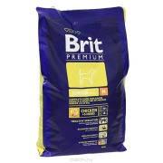 Корм для собак Brit Premium Junior M 3 кг, брит для щенков и юниоров средних пород собак