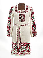 Платье вязаное женское Птички с вставкой| Плаття вязане жіноче Пташки з вставкою