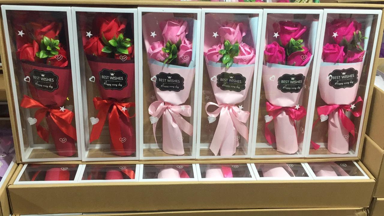Только опт!!! Букет роз из мыла 3шт в подарочной упаковке best wishes
