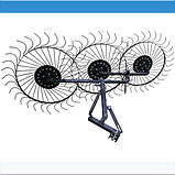 """Грабли механические Солнышко большие тракторные """"Премиум"""" на 3 колеса (1,8м), фото 2"""
