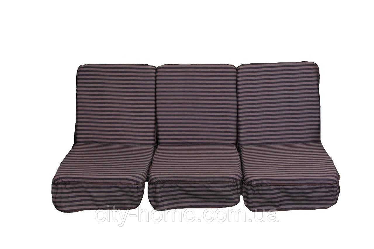 Комплект поролоновых подушек для садовой качели 168 см (009)