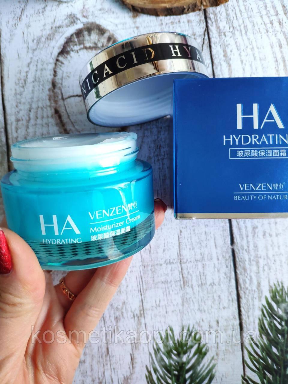 Крем для лица VENZEN Hyaluronic Acid Moisturizing Cream с повышенным содержанием гиалуруновой кислоты