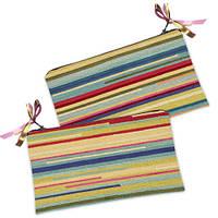 Косметичка-кошелёк разноцветная