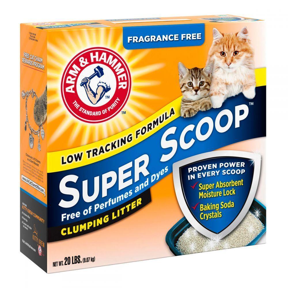 Наполнитель Arm & Hammer SUPER SCOOP (Арм Хаммер для котячого туалету, без запаху), 6,35кг